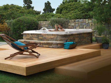 landscaped spa